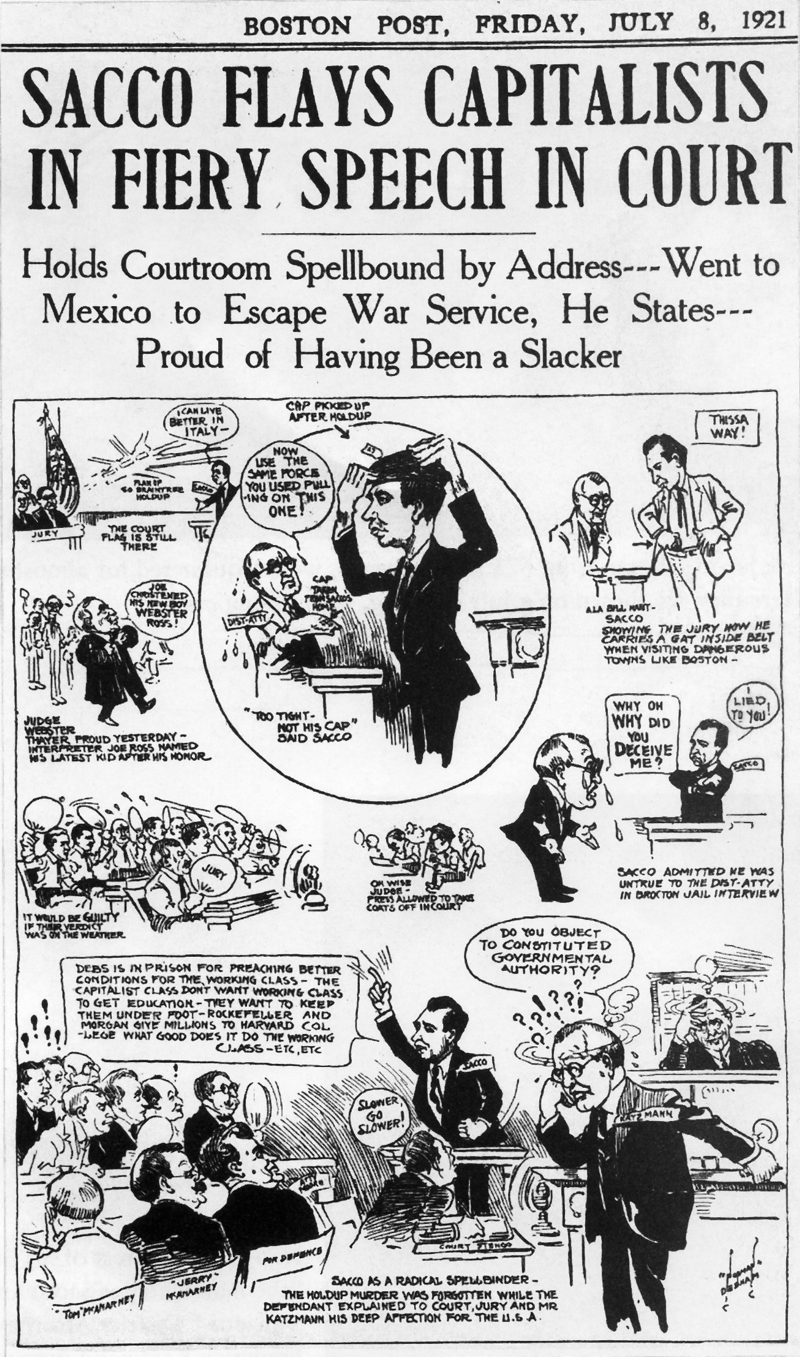 Cartoon published in the Boston Post 1921