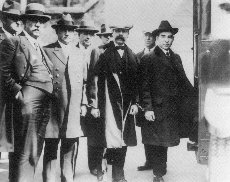 Sacco and Vanzetti in custody, circa 1920